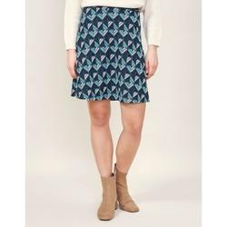 Vêtements Femme Jupes La Fiancee Du Mekong Jupe maille jacquard SANIWA Bleu émeraude