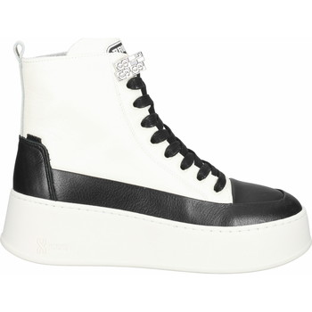 Chaussures Femme Boots Bronx Bottines Schwarz/Weiß