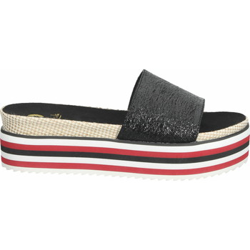 Chaussures Femme Mules La Strada Mules Schwarz/Rot