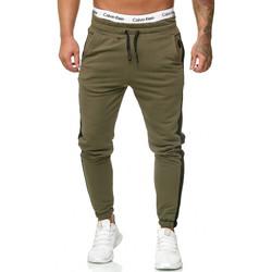 Vêtements Homme Pantalons de survêtement Violento Jogging à bandes homme Jogging 1211 vert Vert