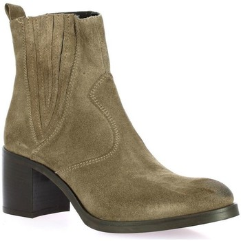 Chaussures Femme Boots Spaziozero Boots cuir velours Taupe