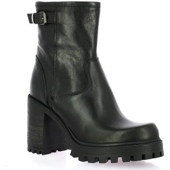 Chaussures Femme Bottines Spaziozero Boots cuir Noir
