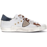 Chaussures Femme Baskets basses Philippe Model Sneaker Paris X Rodeo Mixage bianca con cavallino stampato Multicolor