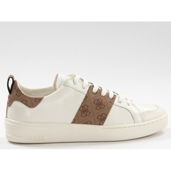 Chaussures Homme Baskets basses Guess Verona stripe Blanc