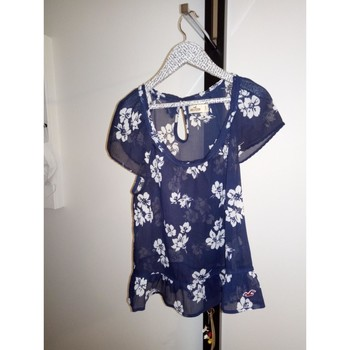 Vêtements Femme Tops / Blouses Hollister TOP fantaisie de la marque Hollister Bleu