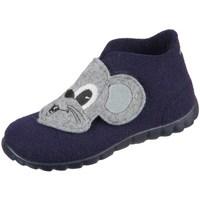 Chaussures Garçon Chaussons bébés Superfit Happy Gris, Bleu marine