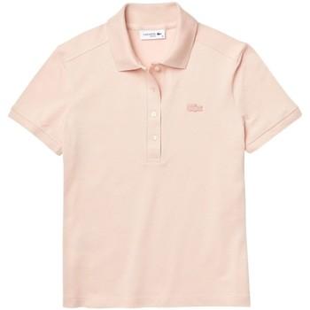 Vêtements Femme Polos manches courtes Lacoste Polo Femme Slim Fit  ref 52088 ADY rose pale Rose