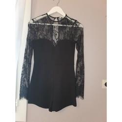 Vêtements Femme Combinaisons / Salopettes by the way combishort  dentelle Noir