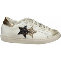 Chaussures Femme Baskets basses 2 Stars LOW bianco-ghiaccio-oro