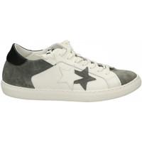 Chaussures Homme Baskets basses 2 Stars LOW bianco-nero-grigio