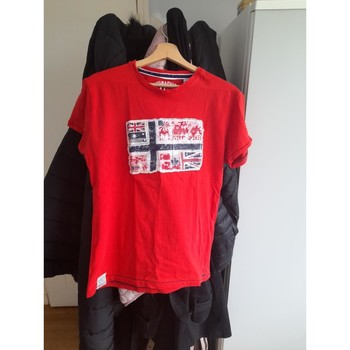 Vêtements Homme T-shirts manches courtes Norway geo T shirt rouge Rouge