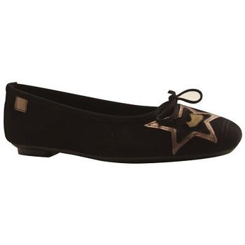 Chaussures Femme Ballerines / babies Reqin's Ballerine hestelle peau Noir