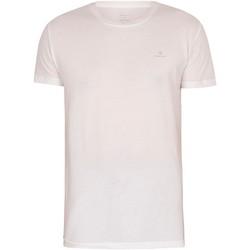 Vêtements Homme T-shirts manches courtes Gant Lot de 2 t-shirts de détente Essentials blanc