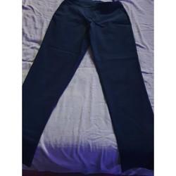 Vêtements Femme Pantalons 5 poches Sans marque pantalon bleu marine Bleu
