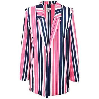 Vêtements Femme Vestes / Blazers Georgedé Lustres, suspensions et plafonniers Rayures Multicolore