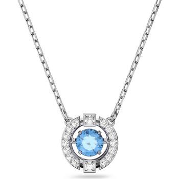 Montres & Bijoux Femme Colliers / Sautoirs Swarovski Collier  Sparkling round bleu Blanc