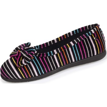 Chaussures Femme Chaussons Isotoner Chaussons ballerines nœud Rayures
