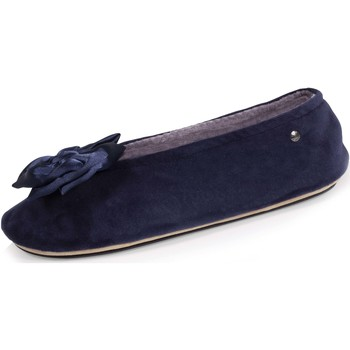 Chaussures Femme Chaussons Isotoner Chaussons ballerines nœud xxl Marine