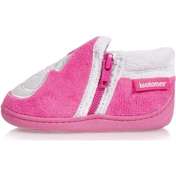 Chaussures Fille Chaussons Isotoner Chaussons bottillons rose Rose