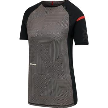 Vêtements Femme T-shirts manches courtes Hummel Maillot d'échauffement femme  hmlPRO XK noir/rose clair