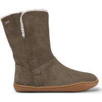 Chaussures Enfant Boots Camper Bottines cuir Peu Cami Kids marron