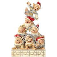 Maison & Déco Statuettes et figurines Disney Figurine de Collection les 7 nains - Noël Beige