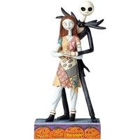 Maison & Déco Statuettes et figurines L'étrange Noël De Monsieur Jac Statuette de Collection Sally et Jack - The Nightmare Gris