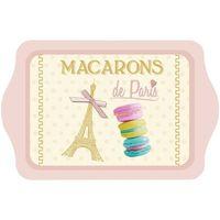 Maison & Déco Vides poches Paris Plateau petit modèle  Macarons 20 x 14 cm Beige