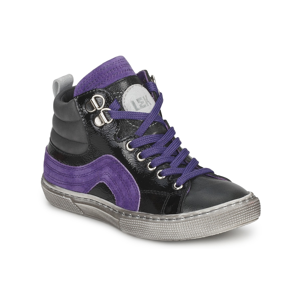 Basket montante Little Mary OPTIMAL Noir / Violet