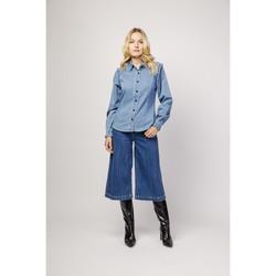 Vêtements Femme Pantacourts Toxik3 Chemise frange - Cody Bleu jean clair
