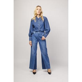 Vêtements Jeans bootcut Toxik3 Jean bi-ton - Sixtine Bleu jean