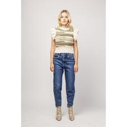 Vêtements Jeans slim Toxik3 Jean mom - Sya Bleu jean foncé