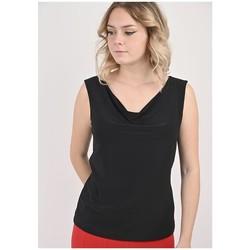 Vêtements Femme Tops / Blouses Georgedé Top Kiana Col Bénitier Noir Noir