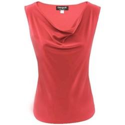 Vêtements Femme Tops / Blouses Georgedé Top Kiana Col Bénitier Rouge Rouge