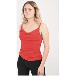 Vêtements Femme Tops / Blouses Georgedé Top Salomé Col Bénitier Rouge Rouge
