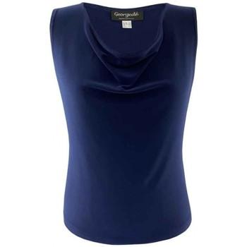 Vêtements Femme Tops / Blouses Georgedé Et acceptez notre Polique de Protection des Données Marine Bleu