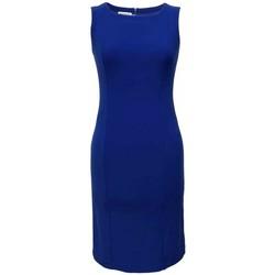 Vêtements Femme Robes Georgedé Robe Droite Adelyne  Sans Manche Bleue Bleu