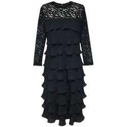 Vêtements Femme Robes Georgedé Robe Délia en Mousseline à Volants Noire Noir