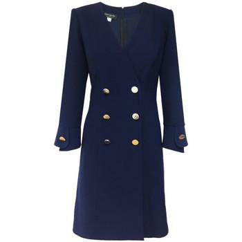 Vêtements Femme Robes Georgedé Robe Masha en Jersey Bleu Marine Bleu