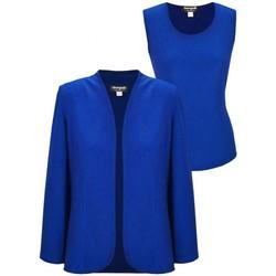 Vêtements Femme Vestes Georgedé Twinset Léa Uni Top et Veste Bleu Royal Bleu