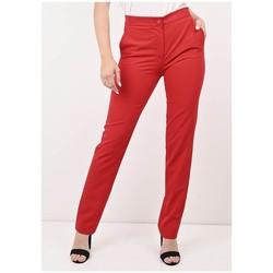 Vêtements Femme Pantalons Georgedé Pantalon Clélia Rouge Rouge