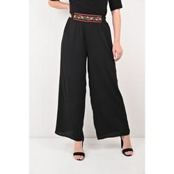 Vêtements Femme Pantalons Georgedé Pantalon Camélia Bohème en Crêpe Noir Noir