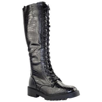 Chaussures Femme Bottes ville Sacha SACHABOTTES NOIR REPTILE