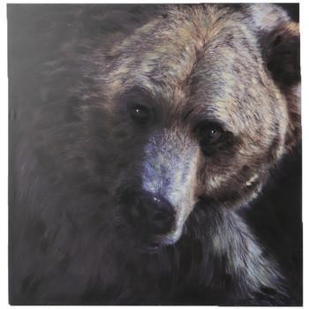 Maison & Déco Affiches, posters Amadeus Cades Toile ours brun 100x100 Marron