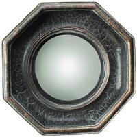 Maison & Déco Miroirs Chehoma Miroir convexe octogonal noir 14x4cm Noir et doré