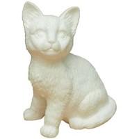 Maison & Déco Lampes à poser Chehoma Lampe Chat porcelaine 19x14cm Blanc