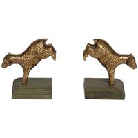 Maison & Déco Statuettes et figurines Chehoma Serre-livres saute mouton 13x8x22cm Bronze