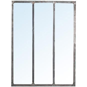 Maison & Déco Miroirs Chehoma Miroir d'atelier gris 120x90cm Gris