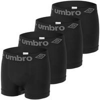 Sous-vêtements Homme Boxers Umbro Lot de 4 Boxers homme sans couture Noir
