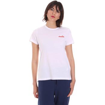 Vêtements Femme T-shirts manches courtes Diadora 102175882 Blanc